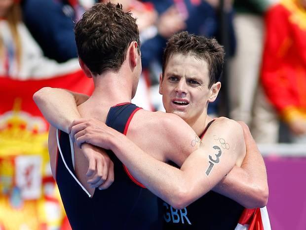 Jonny Brownlee won bronze in the triathlon on day 11