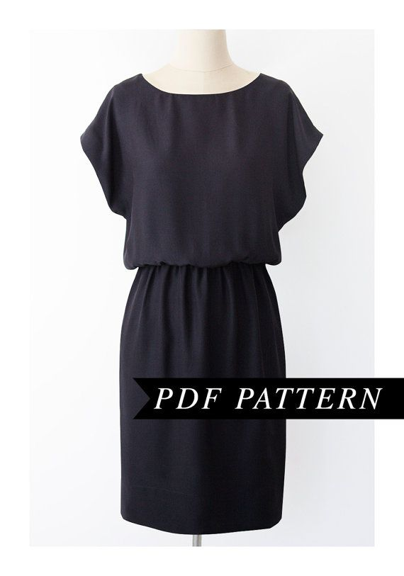 Easy short sleeved Dress pattern _ Patternrunway on etsy