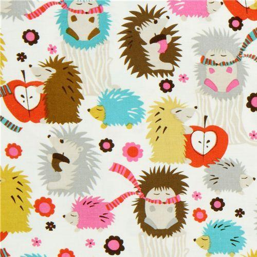 Michael Miller fabric Hedgehog Meadow cute hedgehogs 1