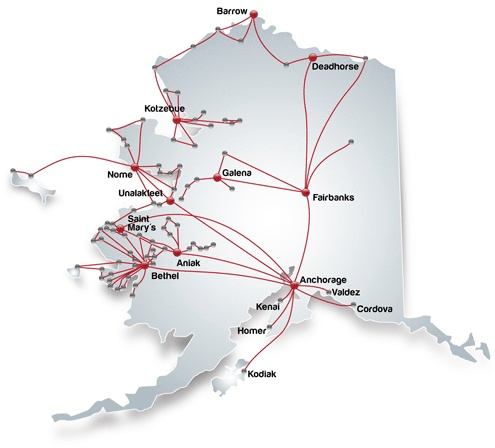 Route Map   Era Alaska  Loved watching the show on the Discovery Channel about this family run airline and it's bush pilots.