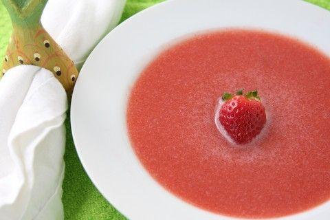 Watermelon Strawberry Soup