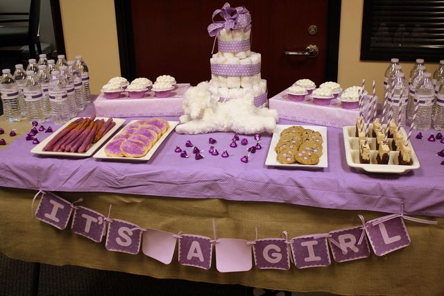 "Photo 4 of 7: Lavender Lamb / Baby Shower/Sip & See ""Lavender Lamb Office Shower"" 