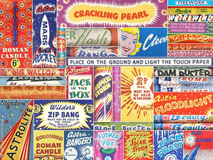 Here's some more fireworks fun – this time, a little something for lovers of vintage typography…