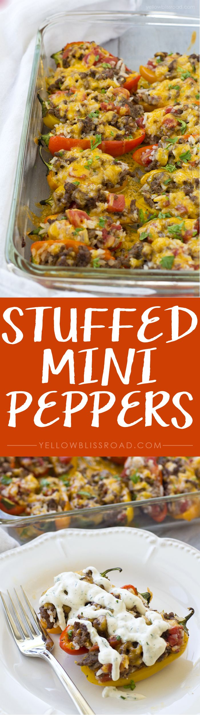 Stuffed Mini Sweet Peppers - Serve as a unique appetizer or as a meal