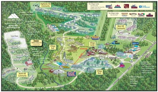 Smugglers' Notch, Vermont - Resort Map