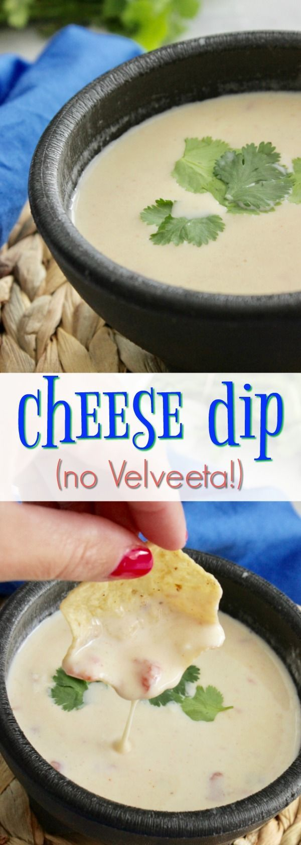 This Queso - No Velveeta guys! So, it's better for my family - I love that! #appetizer #food #recipe #hotdips