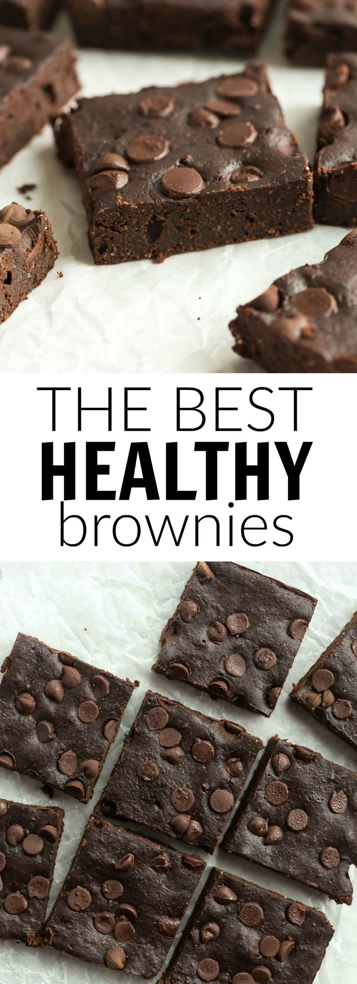 These are the BEST healthy brownies! They are SO fudgy and made with whole wheat flour, coconut oil, applesauce and have reduced sugar. | healthy dessert | chocolate recipe | brownie recipe | easy recipe