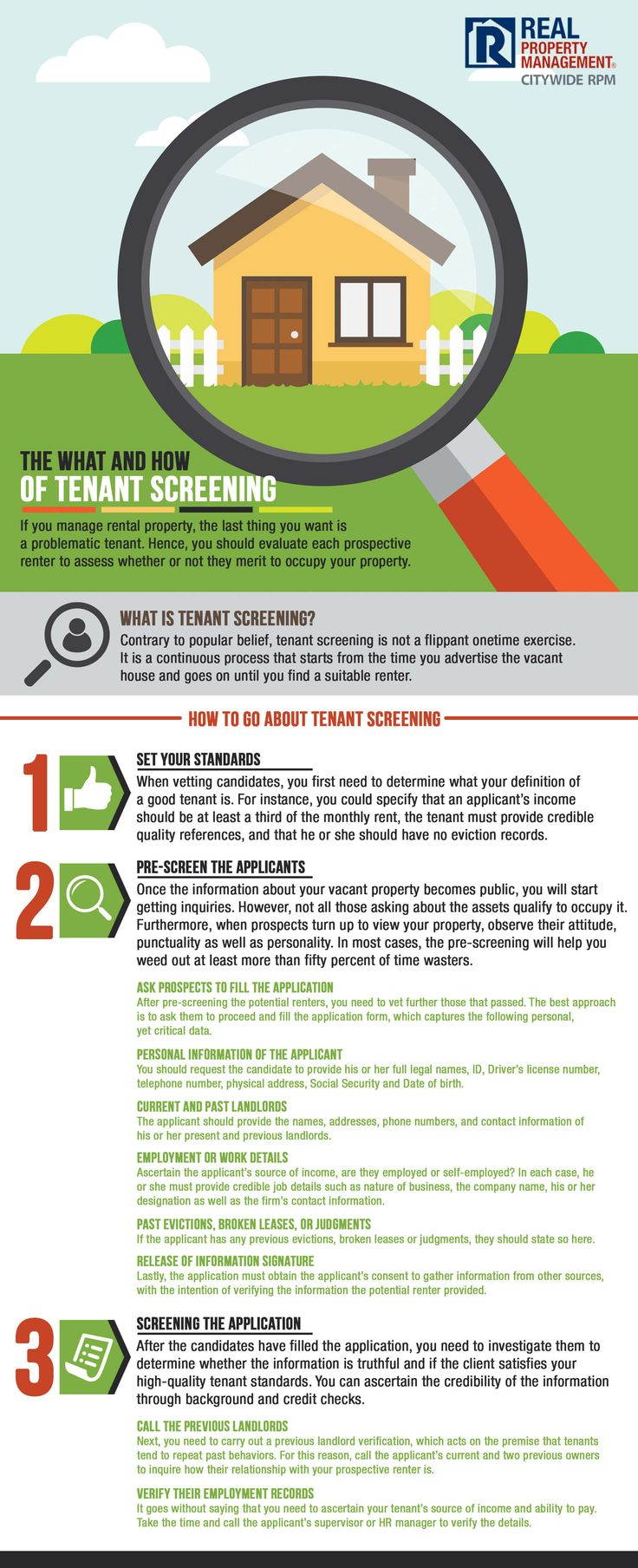 If you manage rental property you're probably aware of the headaches that can be caused by a problematic tenant. In order to reduce the likelihood of having to deal with problematic tenants, it's important to implement effective tenant screening. To give you some guidance we've put together this guide to help you in your tenant screening process.