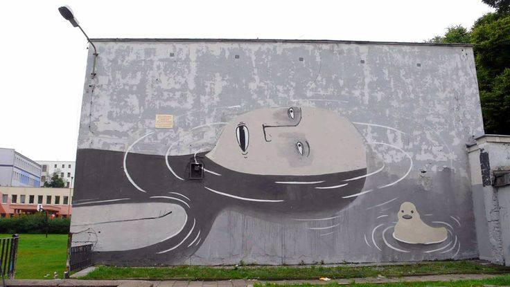 OUT OF STH #Wroclaw 2010 by Escif, ul. Górnickiego #streetart