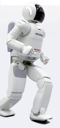 HONDA's ASIMO It is 1.3 m and 52 kgs. With 34 degrees of freedom, it moves like a human and can perform similar tasks. It communicates, recognizes faces and voices.