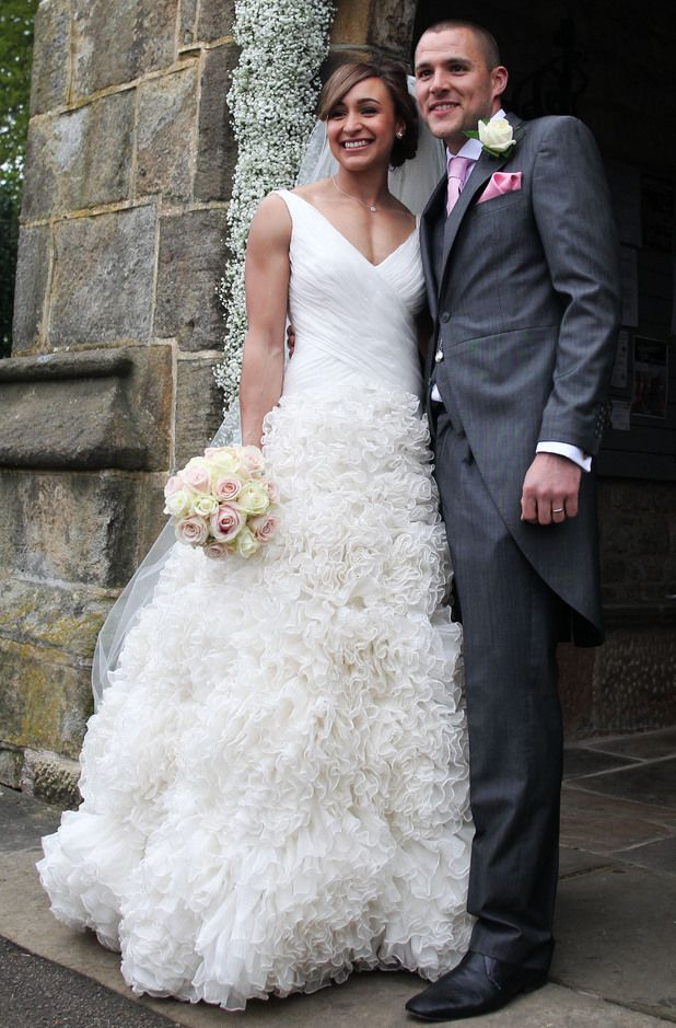 """Britain's Olympic """"sweetheart,""""  gold medalist - Jessica Ennis marries Andy Hill. 18th May 2013."""