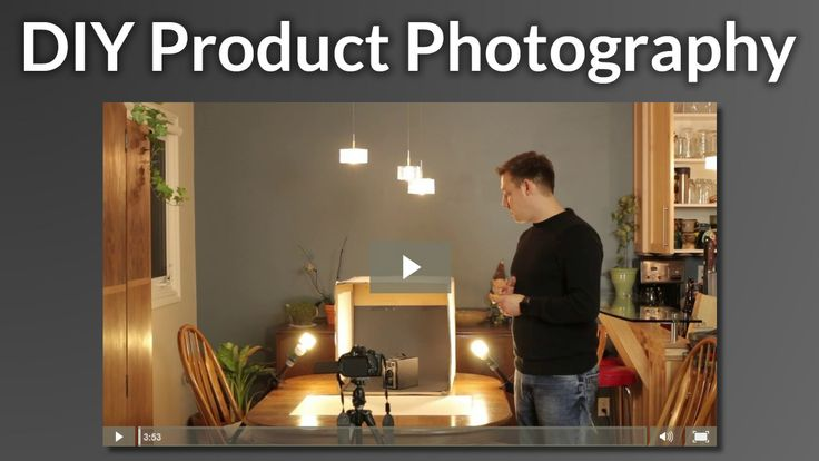 DIY Product Photography - A video about how to do your own product photography using a cardboard box, tissue paper, and a few lights.