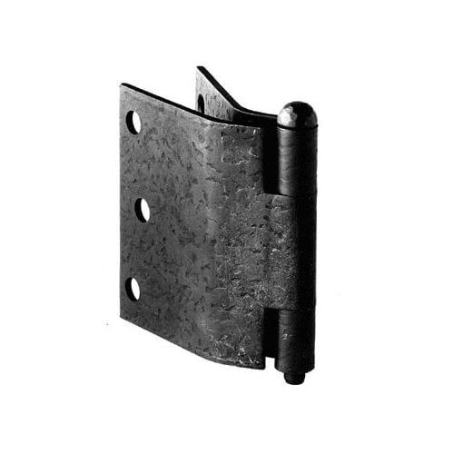 """Acorn Manufacturing RK2Q 3"""" x 5"""" Curved Offset Shutter Hinges, Clear"""