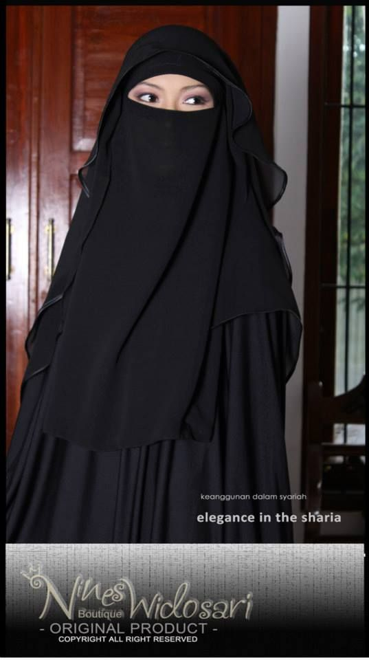 NIQAB BUTTERFLY HITAM MATERIAL:CHIFFON CERUTY IDR.200.000 #JILBAB,#SYAR'I,#BUSANA MUSLIM,#HIJAB INSTAN