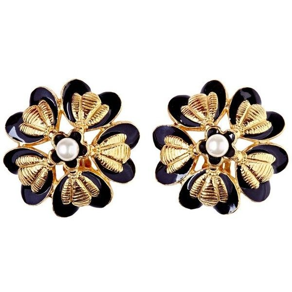 Preowned Rare Chanel 1980s Flower Design Earrings With Pearl Detail ($615) ❤ liked on Polyvore featuring jewelry, earrings, beige, pre owned jewelry, chanel, pearl jewelry, pearl earrings and 80s jewelry