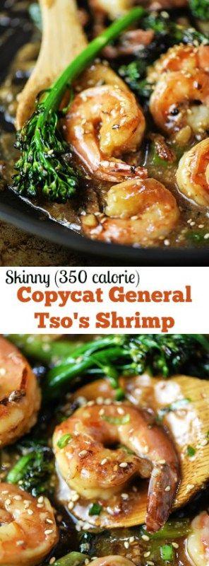 Skinny Copycat General Tso's Shrimp - Apple of My Eye