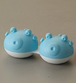 Q-CASE - Fish - Contact lens case - (3 pack) (BLUE). CE marking and FDA Approved 510k. Easily identified Left & Right lens cases. Compact design. Lovely design that is both practical and functional. Ideal for storing lenses. 40. A fun way to store your lenses.