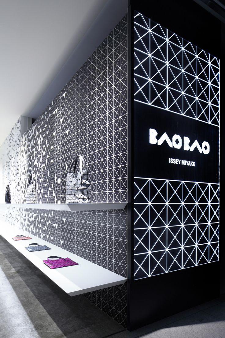 interactive interior facade at issey miyake shinjuku by moment design