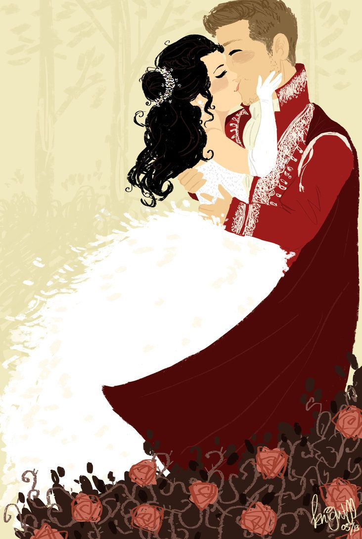 Only true love's kiss//cartoon Snow and Charming <3