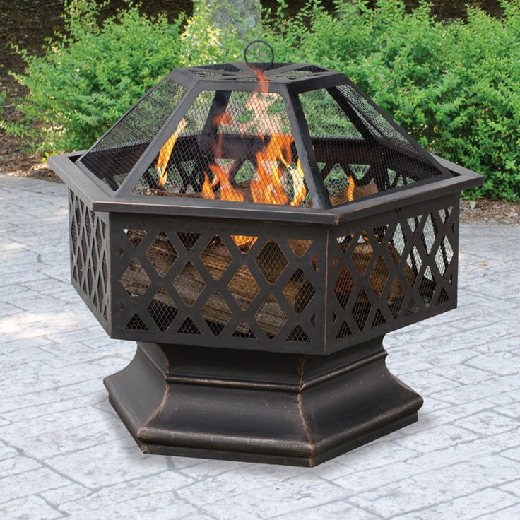 UniFlame Hex Shaped Lattice Fire Pit - WAD1377SP