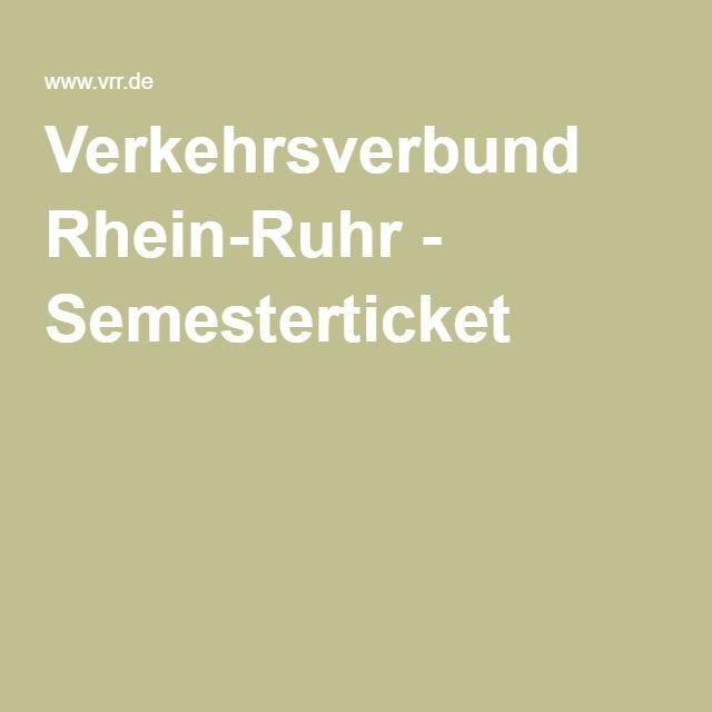 Verkehrsverbund Rhein-Ruhr - Semesterticket