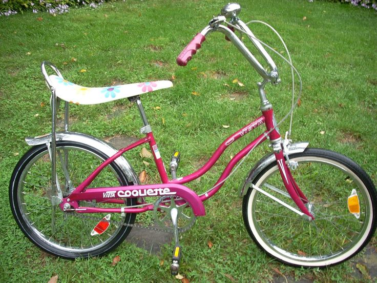 Loved my floral banana seat bike...lol  mine was a deep metalic purple with a white seat and purple and green flowers and I had a big white basket with plastic flowers on it too...lol