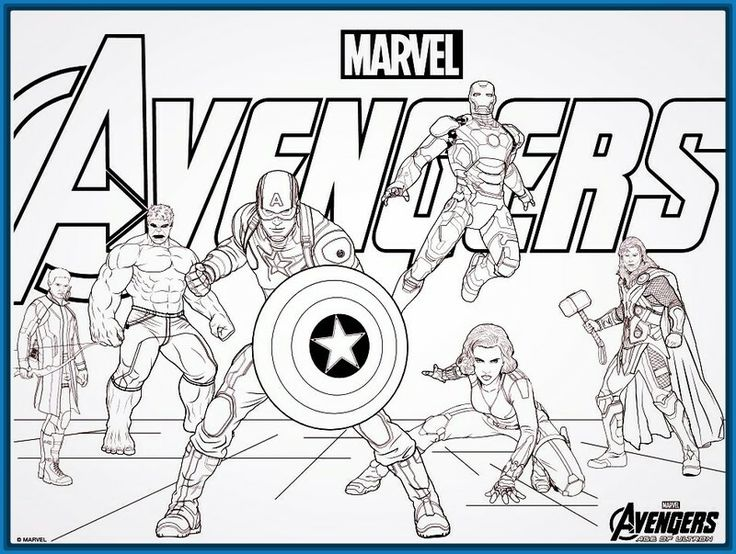 17 best Avengers para colorear images on Pinterest | Coloring books ...