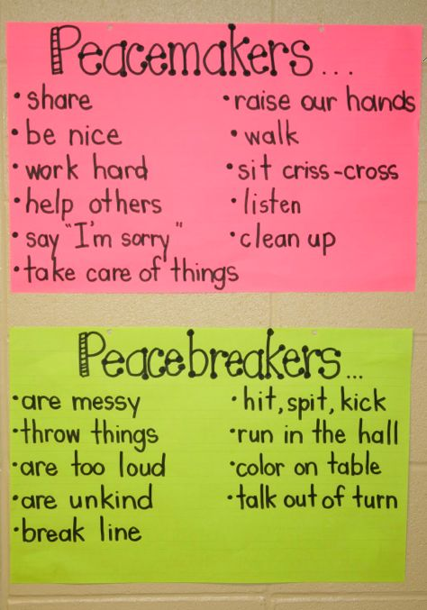 """I like the phrasing here: peacemakers vs. peacebreakers (as opposed to """"on task"""" and """"off task."""")"""
