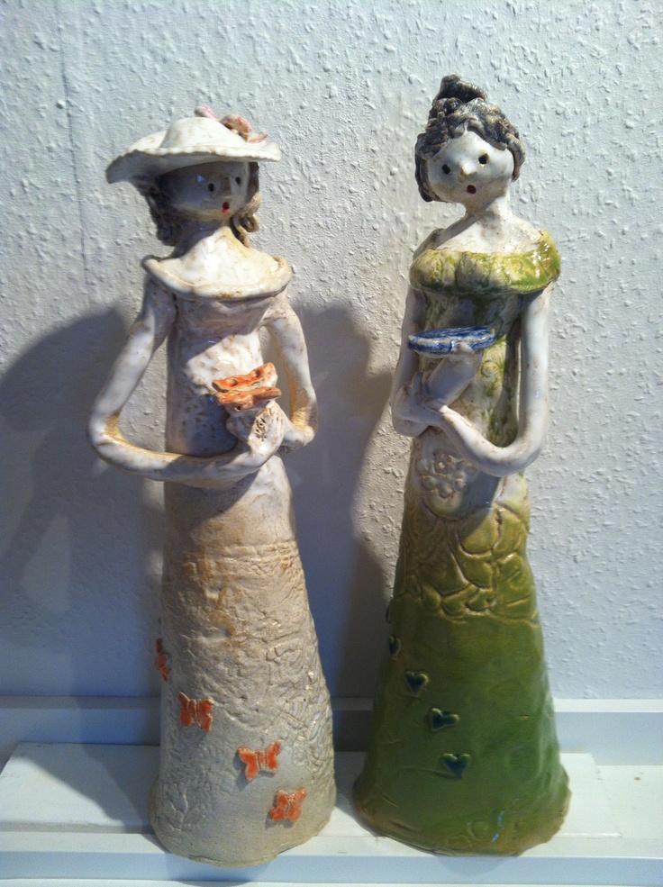Keramik skulpturer  42 cmhøje