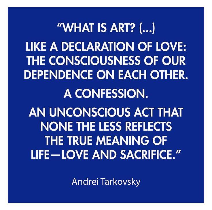 I like Tarkovskys movies so much. An inspiration since the early days. #quotes #andreitarkovsky #tarkovsky #remind Kenneth Pils