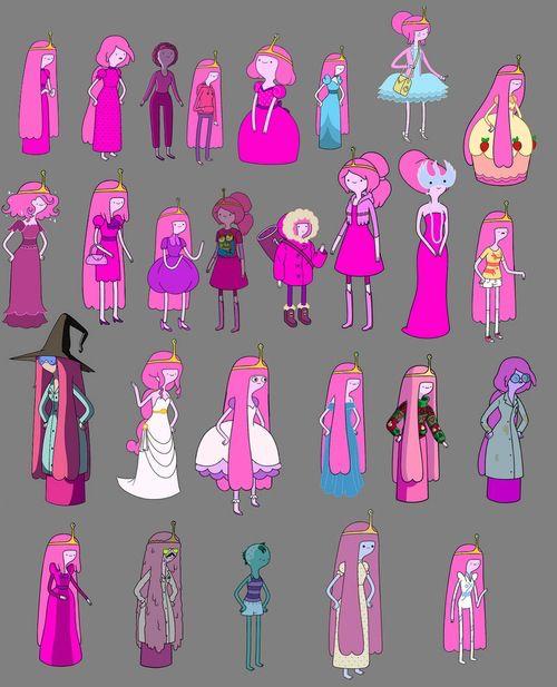Princess bubblegum through different episodes