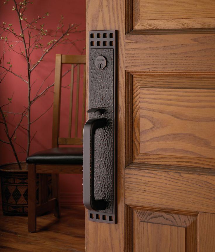 #Solid #wood, #handcrafteddoor by #Hazletonwooddesigns, with #beautiful #Baldwin #handleset. #custom #mouldings, #hinges, #interior, #design, #exclusive-homes, #home, #doors