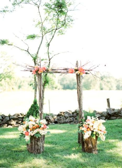 Very Simple Arch For Your Ceremony Great Idea A Small Spring Wedding Outside In