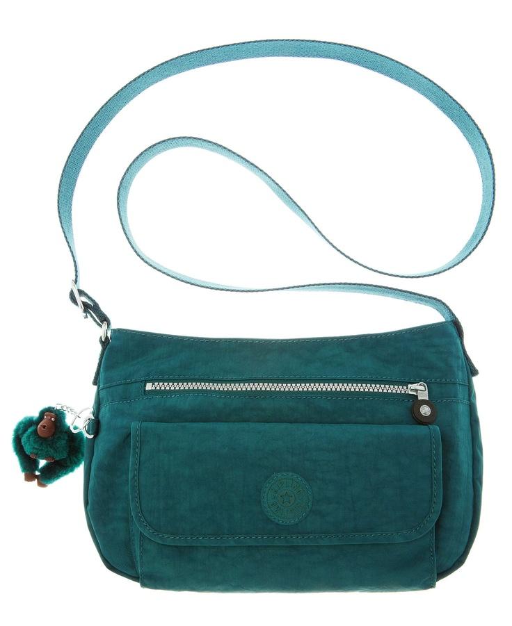 Kipling - Syro Crossbody Bag in Midnight Green.