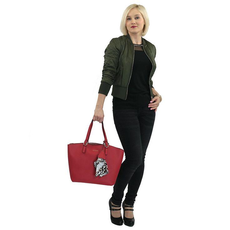 Kabelka HWTULIP7223 Guess, červená | Delmas.cz - kabelky, peněženky, pánské tašky, cestovní zavazadla
