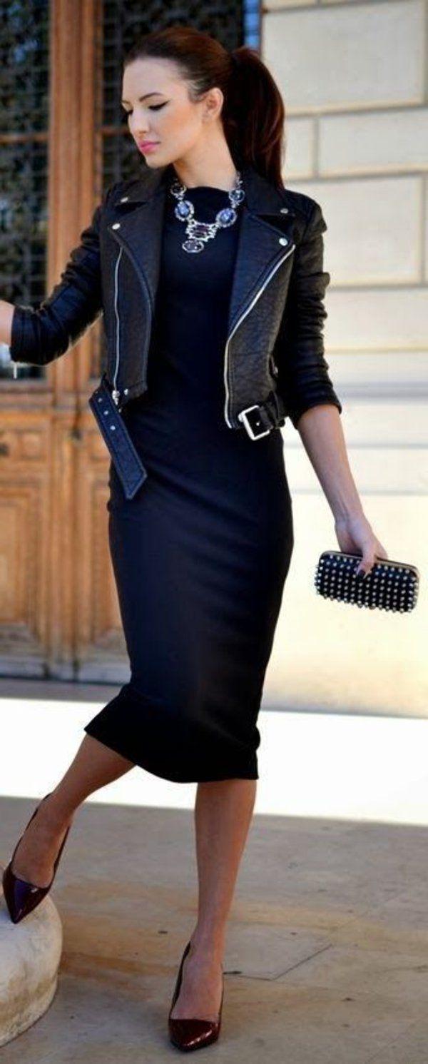 Veste en cuir femme quoi mettre avec