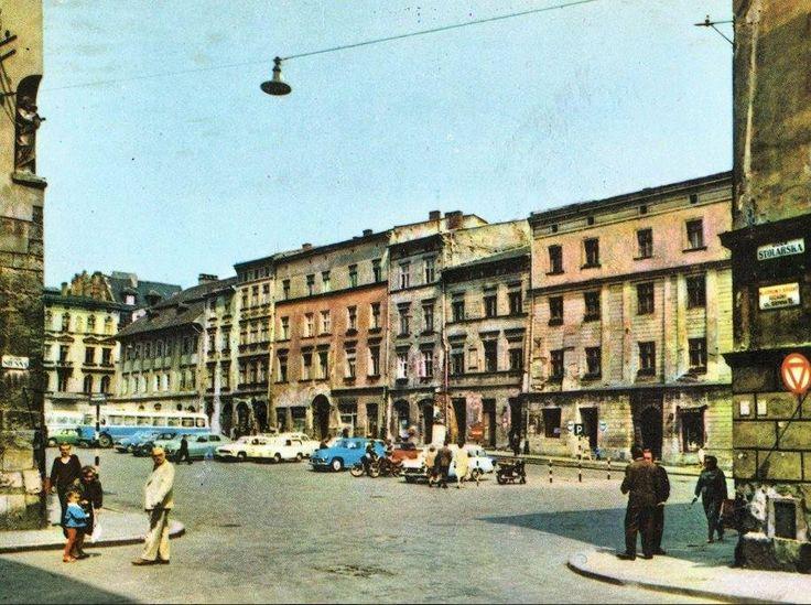 Widok na Mały Rynek ze Stolarskiej. Kraków, 1967 rok