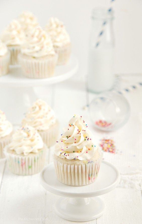 Funfetti Birthday Cake Cupcakes - Ditch that boxed mix! - The Kitchen McCabe