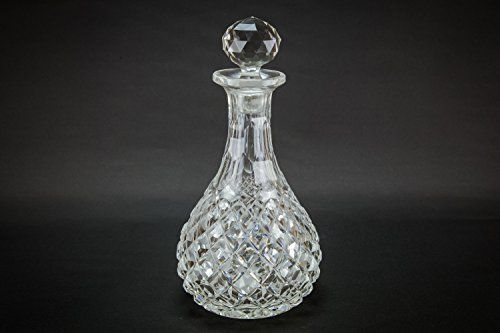 Cut Glass Antique DECANTER Sherry Port Red Wine Diamond CARAFE Serving High Victorian Crystal English LS ** Want to know more, click on the image.