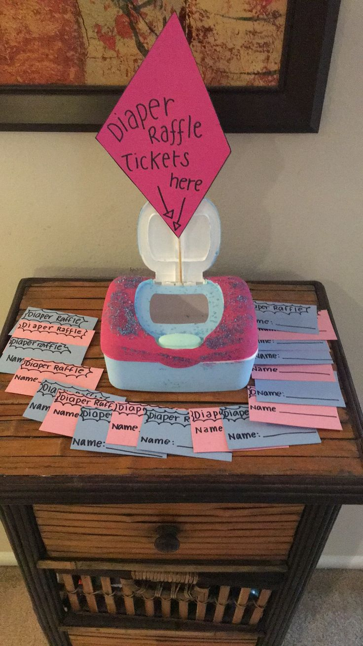 Diaper raffle. Gender reveal