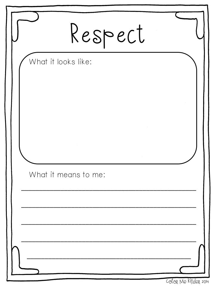 Free Worksheets 6 pillars of character worksheets : 17 Best ideas about Respect Lessons on Pinterest ...