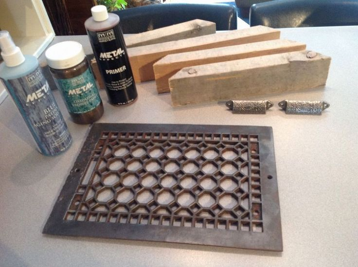 Upcycled Decor with Modern Masters - Metal Effects paint -- Another idea I will do if I find one is add furniture protectors and use as a hot plate