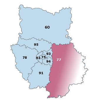 Carte Veterinaire de Garde Ile-de-France Seine et Marne 77