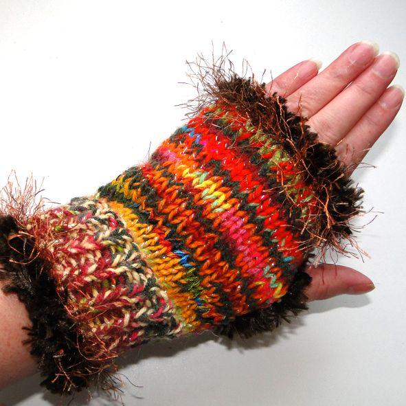 Trendy Fingerless Gloves - Multi Coloured Sparkle