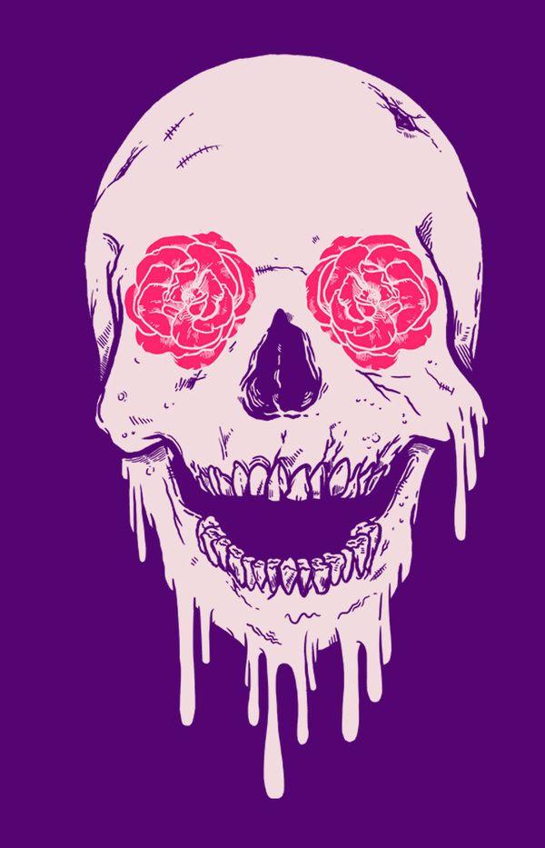 Another trendy skull by Madkobra , via Behance