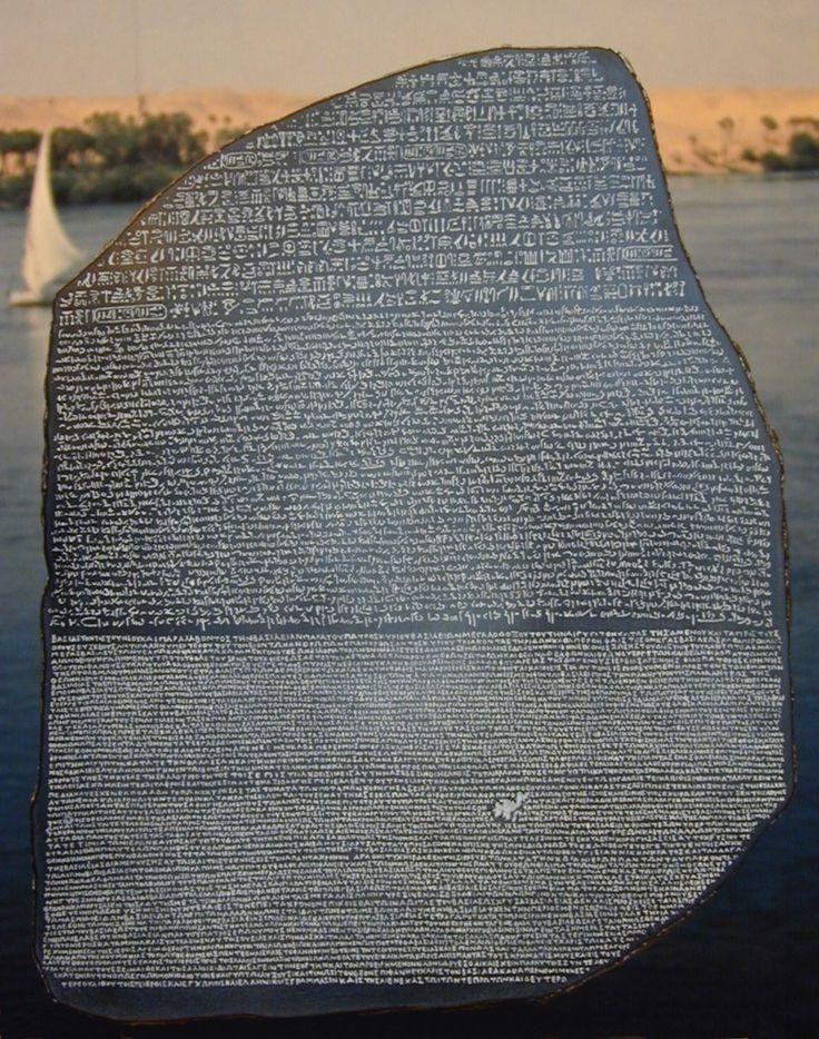 Piedra de Rosetta (Alt:30cm). www.decorarconarte.com