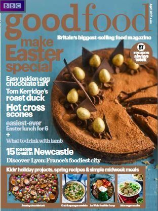In this month's issue of Good Food get your free Italian Classics Collection of 50 recipes- food for friends & family meals.  Delicious Easter recipes including Tom Kerridge's roast duck, hot cross scones, easy golden egg chocolate tart and much more.  15 top spots to eat in Newcastle & discover Lyon: France's foodiest city.