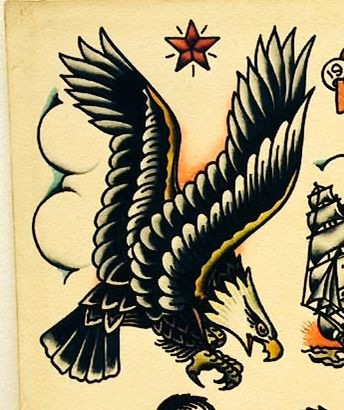 Sailor Jerry eagle tattoo