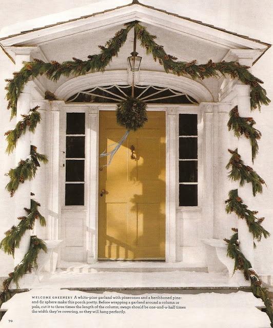 Garland For Front Door: Beautiful Festive Front Door