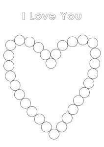 Printable - Do-a-dot Love Heart from Get Into Homeschooling